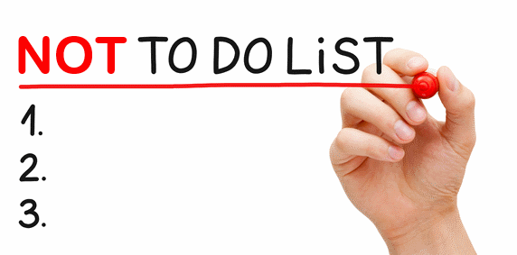 Create a not-to-do list and save yourself