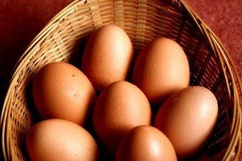 Six eggs in a basket