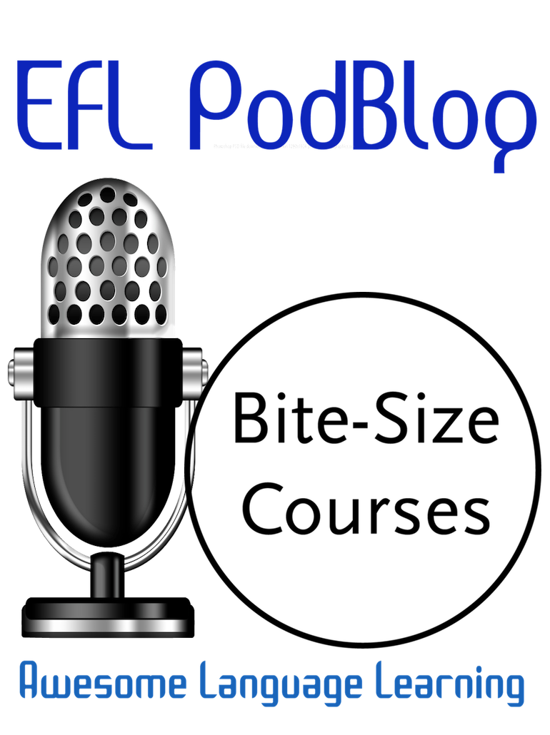 How can podcasts help me to learn English?