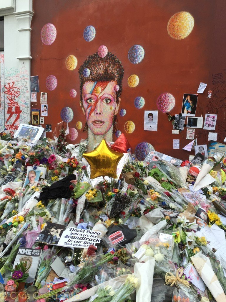 A visit to the David Bowie memorial, Brixton, London