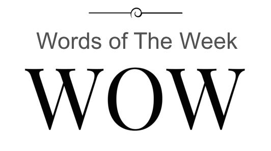 Words of the week quiz 31 August