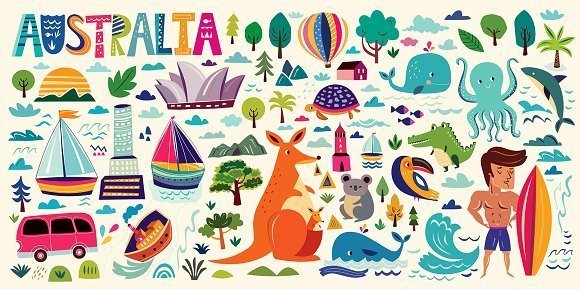 The symbols of Australia