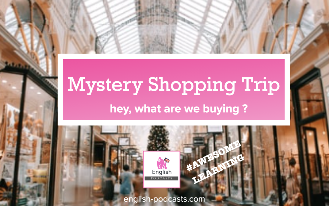Animated Podcast Number 10: Mystery shopping trip