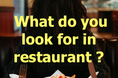 Animated Podcast Number 4: What do you look for in a restaurant?