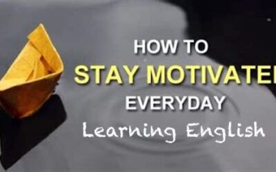 How to stay motivated learning English